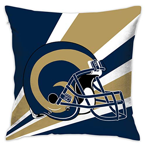 luckyly Custom Pillowcase Colorful Los Angeles Rams American Football Team Bedding Pillow Covers Pillow Cases for Sofa Bedroom Bedding Car Home Decorative - 18x18 -