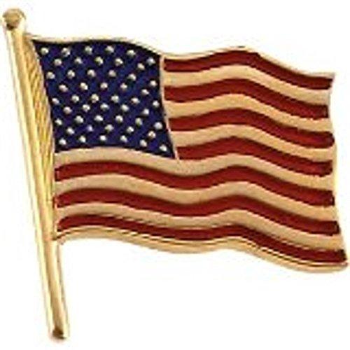 American Flag Lapel Pin 14k Gold (Gold 14k Pin)