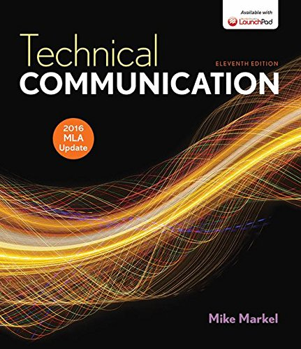 Technical Communication with 2016 MLA Update cover