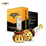 Auxbeam H11 LED Headlight Bulb F-16 Series Extremely Bright LED Headlight Conversion Kit 60W 6000K 6000lm CREE LED Chips Fog Light- 1 Year Warranty