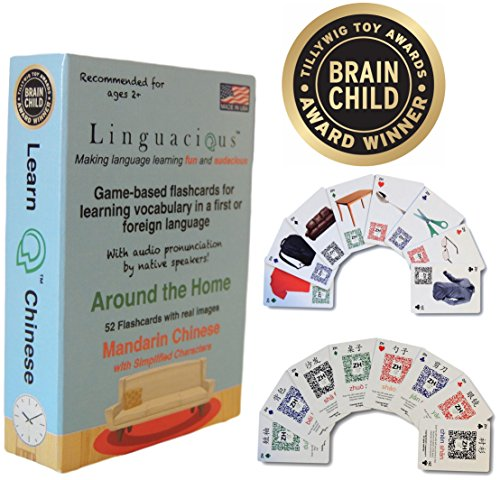 Award-Winning AROUND THE HOME CHINESE Flashcard Game - The ONLY One with Audio ()