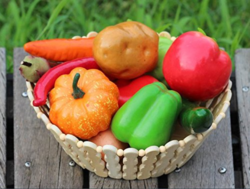 12PCS verdi artificiale schiuma chili pepe verdure falso Fruit Decor realistica puntelli