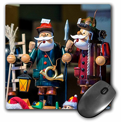 """Price comparison product image 3dRose Traditional Wooden Smokers, Holiday Market, Rothenburg Germany Mouse Pad, 8"""" x 8"""" (mp_188553_1)"""