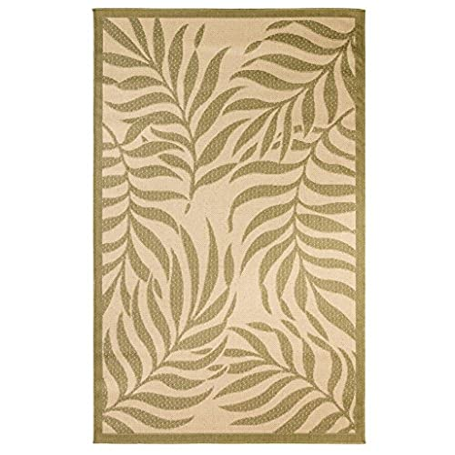 Outdoor Mats Flatweave Indoor Outdoor Rugs With Contemporary Tropical  Design Area Rugs Patio Rug Flooring Carpets 5x8 (4u002711u0027u0027x7u002710u0027u0027, Green)