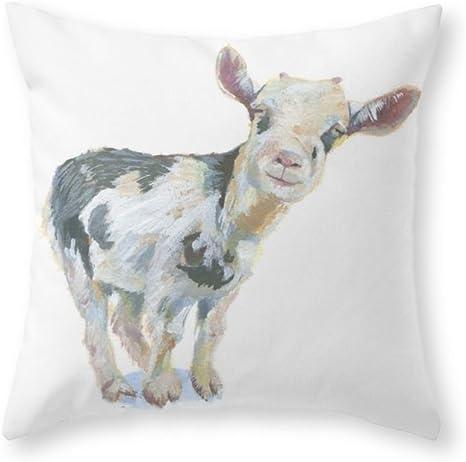 Amazon Com Jumei Smiley Goat Throw Pillow Pillowcase 18 X 18 Inches Home Kitchen