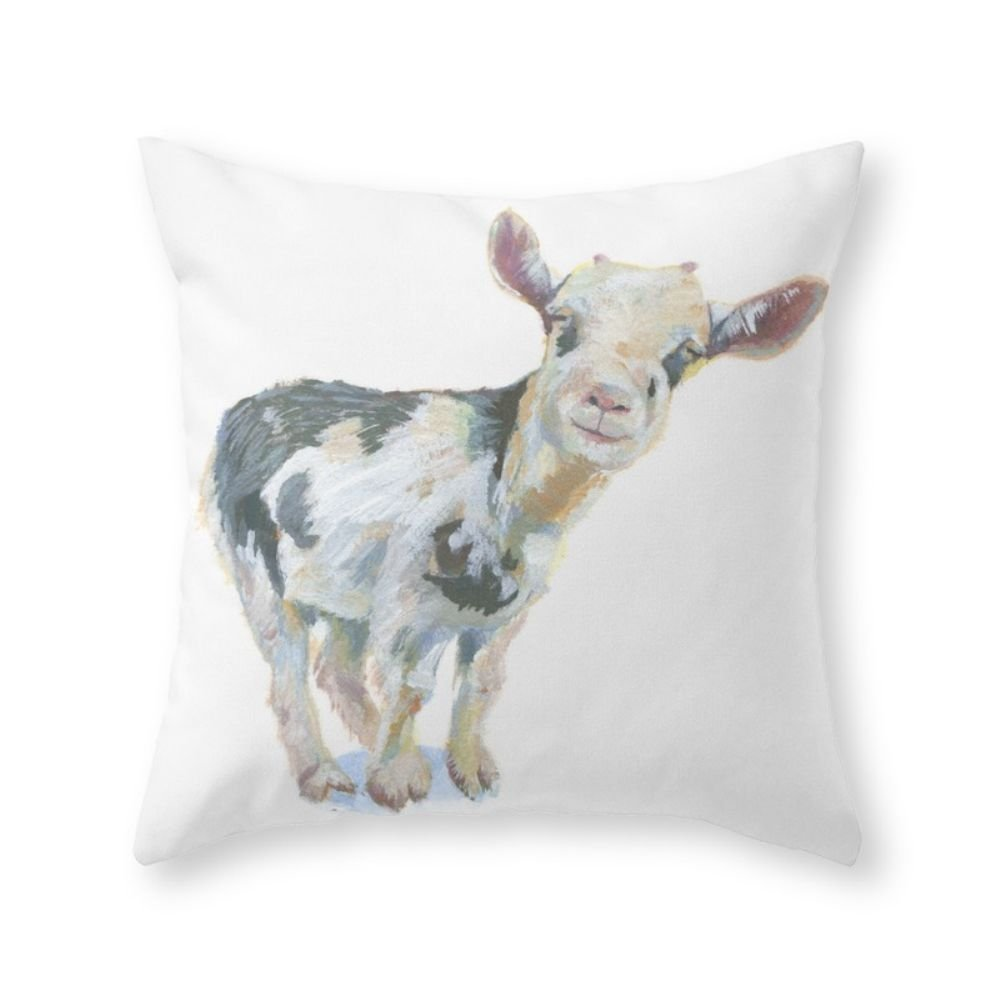 JuMei Smiley Goat Throw Pillow Pillowcase 18 x 18 Inches