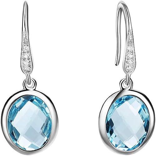 Birthstone Clip on Earrings for Girls Crystal December Teardrop Dangle Earring
