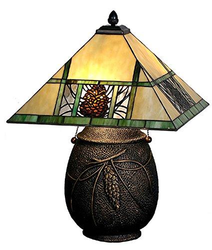 Meyda Tiffany 67850 Pinecone Ridge Table Lamp, (Pinecone Mission Table Lamp)