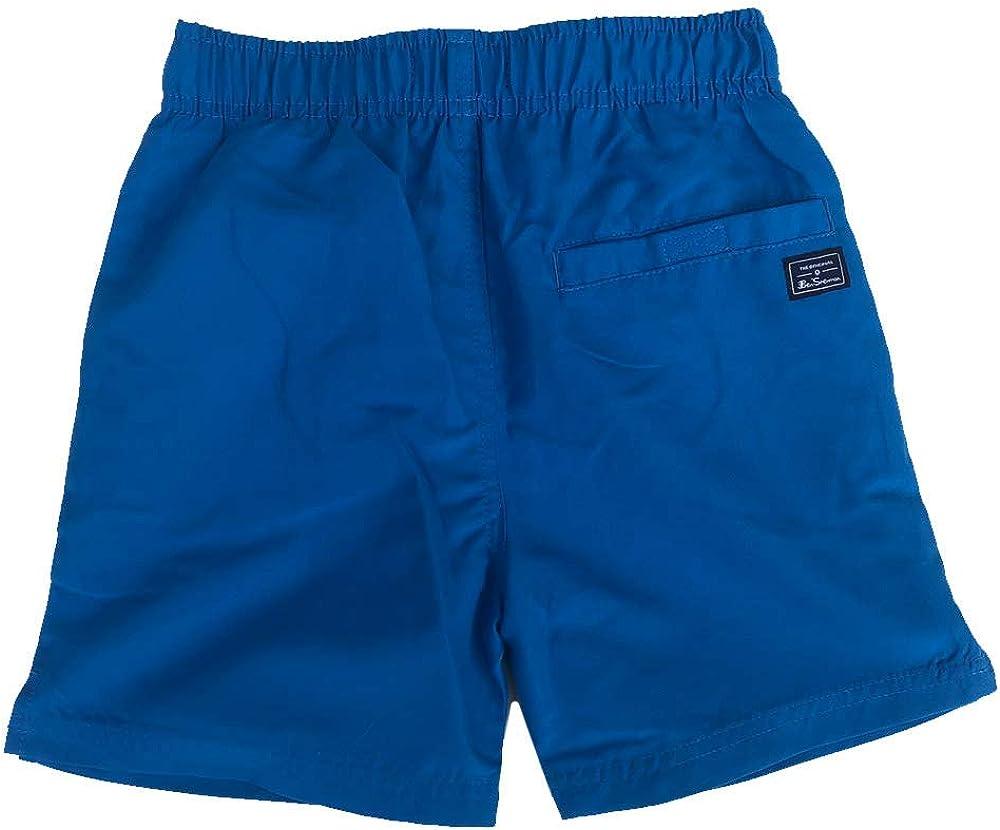 Ben Sherman Ni/ño Pantalones Cortos de Nataci/ón Azul Claro 7Y hasta 15 A/ños