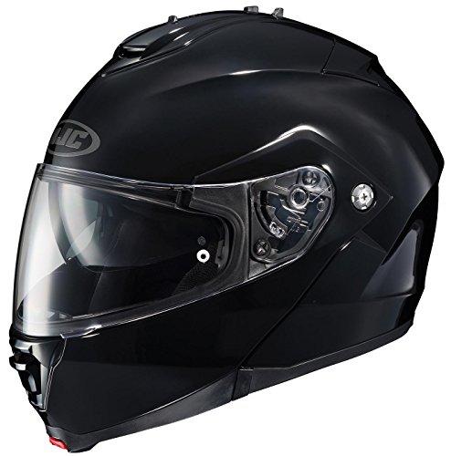 Max Full Face Modular Helmet (HJC IS-MAX Full Face Modular Black Helmet - Large)