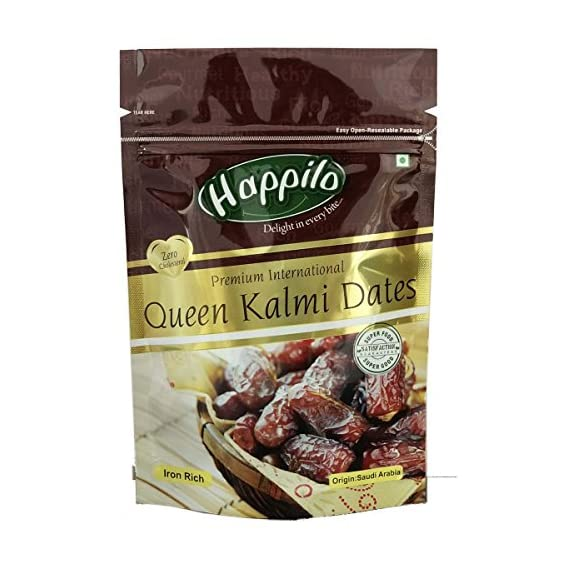 Happilo Premium International Queen Kalmi Dates, 200g (Pack of 2)