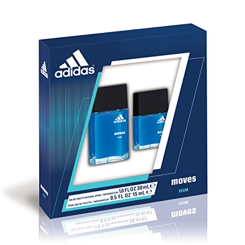 Adidas fragrance moves for him 2 piece gift set plus 10 ounce eau de toilette plus 05 ounce eau de toilette