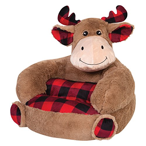 Trend Lab Kids Plush Character Chair, Buffalo Check ()
