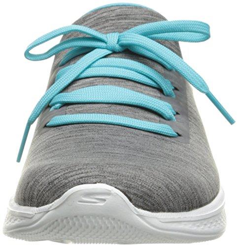 Skechers Go Walk 4-a.d.c, Zapatillas para Mujer Gris (Gybl)