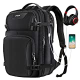 Laptop Backpack, LATOW Travel Anti Theft Water Resistant Computer Bag with USB Charging Port & Headphone Interface, Slim Business Backpack Ideal for Men Women College Student Fit Under 15.6'' Notebook