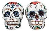 Ebros Love Never Dies Day Of The Dead Sugar Skulls Salt And Pepper Shakers Set Ceramic Earthenware Kitchen Decor