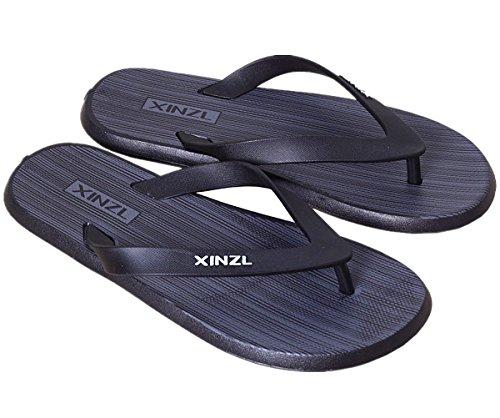 Infradito Da Uomo Confortevole Sandalo Infradito Da Spiaggia Alla Moda Nero