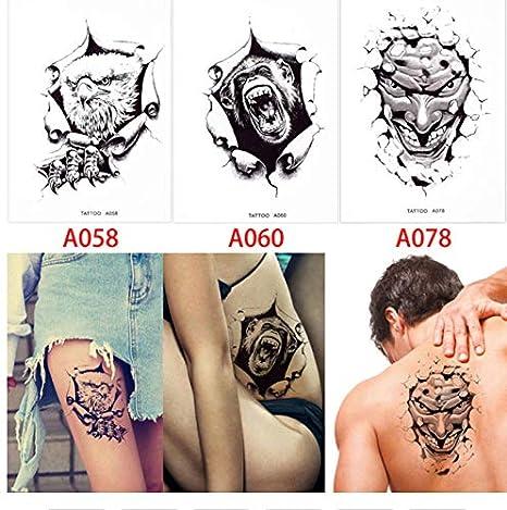 Tatuajes Temporales Adultos Dorados 3 Unidades/Set Temporal ...