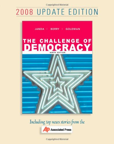 Janda Challenge Of Democracy Associated Press Update Ninth Edition