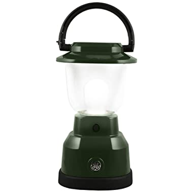 Enbrighten 11016 LED Lantern, Battery Operated, Bright White, Green Finish, 500 Lumens, 180 Hour Runtime, 3 Light Levels, Ideal for Outdoors, Camping, Hurricane, Storm, Tornado & Emergency, Hunter