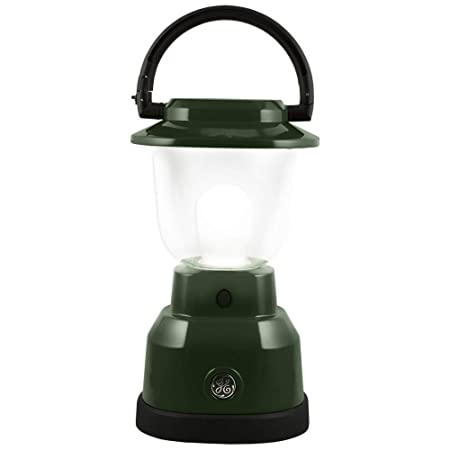 GE Enbrighten LED Lantern, Battery Operated, 500 Lumens, 180 Hour Runtime, 3 Light Levels, Ideal for Outdoors, Camping, Hurricane, Storm, Tornado Emergency, Hunter Green, 11016