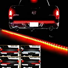 "E-cowlboy 60"" Red/White Trunk Tailgate Tail Gate LED Light Bar For Backup Reverse Brake, Turn Signal Light Functions For Ford GMC Chevy Dodge Toyota Nissan Honda Truck SUV 4x4"