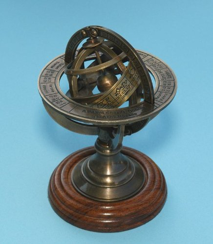 Stanley Sundial (Small Brass Demonstrational Armillary Sphere)