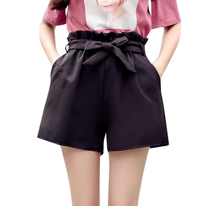 FAMILIZO Pantalones Cortos Mujer Básicos Gimnasio Pantalones Cortos Mujer Verano Deporte Ajustados Cintura Alta Short Yoga Pantalones Calientes High ...