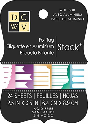 DCWV Tag Stack, Foil, 24 Sheets, 2-1/2 x 3-1/2 inches