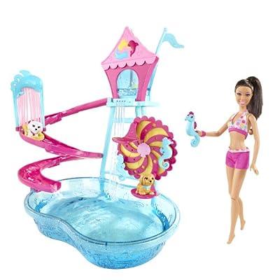 Barbie Puppy Water Park Nicki Doll Playset by Mattel