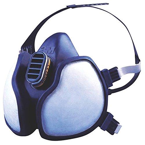 3M sé rie 4000 - Demi-masque de protection ré utilisable 3M 4255 - Filtres inté gré s pour une protection contre vapeurs et particules - 1 x masque bleu/blanc FFA2P3 R D