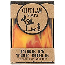 Outlaw Soaps - Fire in the Hole: Campfire, Gunpowder, Sagebrush, and Whiskey Soap - just like a wild weekend camping with friends (2 Pack)
