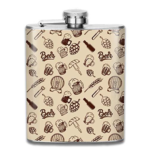 Beer Mugs Bottles Liquor Hip flask Stainless Steel Shot flasks Leak Proof Cool Gift For Men 7oz
