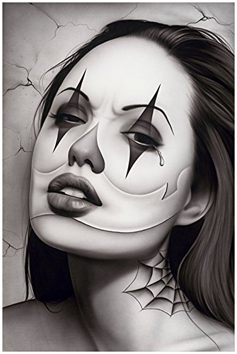 (Tears of a Clown by Spider Latina Payasa Woman Tattoo Poster Art Poster)