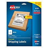 Avery Shipping Labels with TrueBlock Technology, Inkjet Printers, 5.5 x 8.5 Inches, White, Pack of 50 (8126)