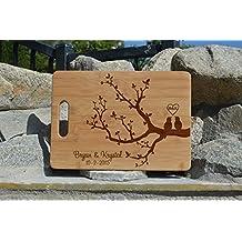 love tree Personalized Cutting Board, Wedding Gift, Laser engraved cutting board ,Wedding Gift for couple, Kitchen decor