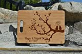 Personalized Cutting Board, Wedding Gift, Family Last Name Laser engraved cutting board ,Wedding Gift for couple, Kitchen decor (LOVE BIRD)