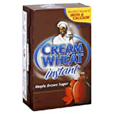 Cream of Wheat Instant Hot Cereal Maple Brown Sugar, 10-Count Box (Pack of 6)