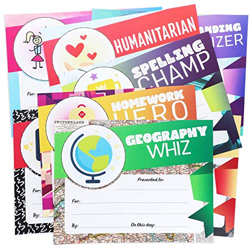 Best Paper Greetings 40-Pack Student Recognition Award Certificates - 40 Designs - End of School Year Achievement, Classroom Teacher Supplies, 8.5 x 11 Inches]()