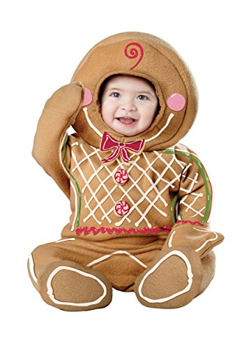 (California Costumes Baby-Boys Infant Gingerbread Man, Brown, Medium (12-18)