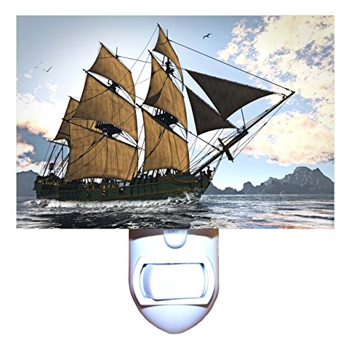 18th Century Sailing Ship Decorative Night Light (Century Lighting 18th)