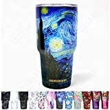 Jormungand Tumbler 30oz Stainless Steel Vacuum Insulated Travel Mug with Straw Friendly Lid Double Wall Coffee Cup Starry Night