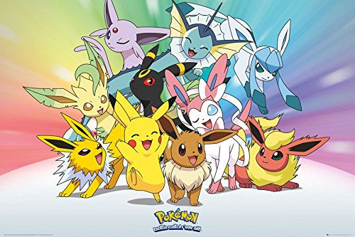 Pokemon Laminated Kanto 151 PKMN Maxi Poster 61x91.5cm