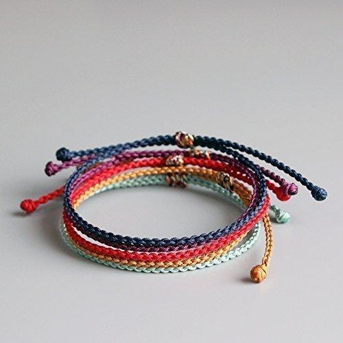 Amazon Tale Lucky Rope Bracelet Tibetan Buddhist Hand Braided