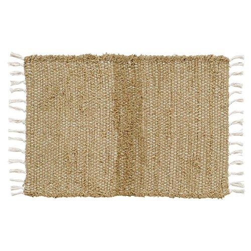 VHC Brands 15055 Burlap Natural Chindi/Rag Rug, 1'8