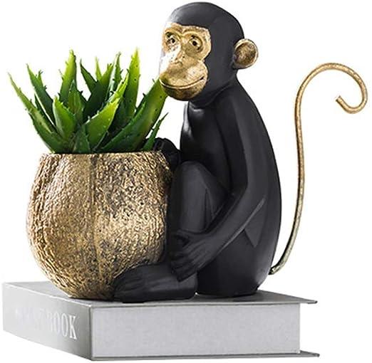 Yuanjiashop Maceteros Estilo nórdico Creativo Adornos para Monos Multifunción Oficina Pluma Titular Inicio Planta Maceta Macetas de jardín para Interiores y Exteriores: Amazon.es: Hogar