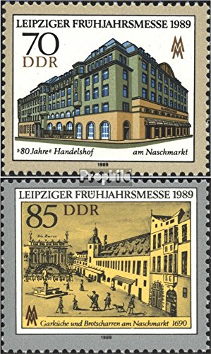 DDR 3235-3236 (Complete.Issue.) 1989 Leipzig Spring Fair (Stamps for Collectors)