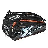 NOX Luxury Silver Padel Racket Bag, Black and
