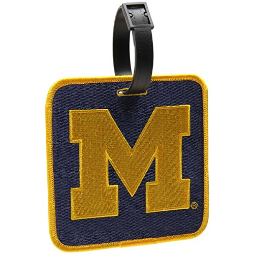 NCAA NEW! University of Michigan Wolverines Golf Bag Tag Embroidered Luggage Tag ()