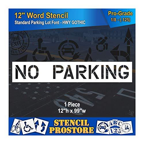 No Parking Stencils - Pavement Marking Stencils - 12 inch NO Parking Stencil - 12